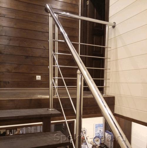 Ограждение из нержавейки на 2 этаж