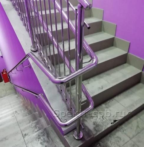 Ограждение на лестнице ДОУ из нержавейки