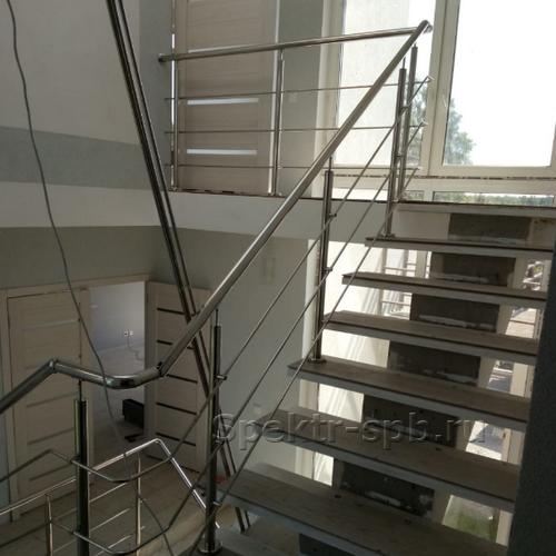 Перила на 2 этаже частного дома